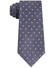 Men's Cross-Hatch and Dots Tie