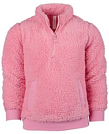 Big Girls Sherpa 1/4-Zip Jacket, Created for Macy's