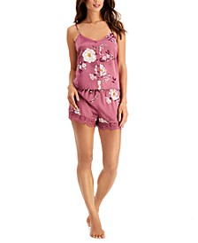 INC Floral-Print Cami & Shorts Pajama Set, Created for Macy's