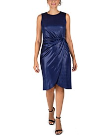 Liquid Jersey Twist-Knot Sheath Dress