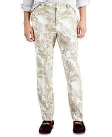 INC Men's Slim Stretch Lead Print Pants, Created for Macy's