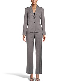 Notched Collar Two-Button Pantsuit