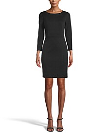 Ponté-Knit Sheath Dress