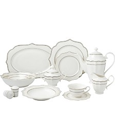 57 Piece Mix and Match Bone China Dinnerware Set, Service for 8