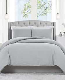 Solid Matelasse 3 Piece King Duvet Set
