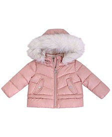 Baby Girls Heavy Weight Peplum Puffer Jacket