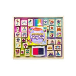 Melissa and Doug Deluxe Fairy Tale Wooden Stamp Set