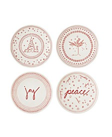 """Crafted By Royal Doulton® Holiday Accent Plate 6"""" Set/4"""
