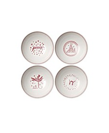 """Crafted By Royal Doulton® Holiday Cereal Bowl 8"""" Set/4"""