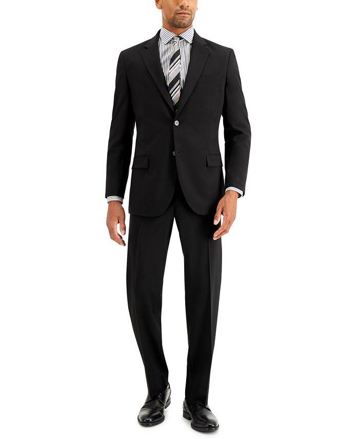 Nautica - Men's Modern-Fit Bi-Stretch Black Suit