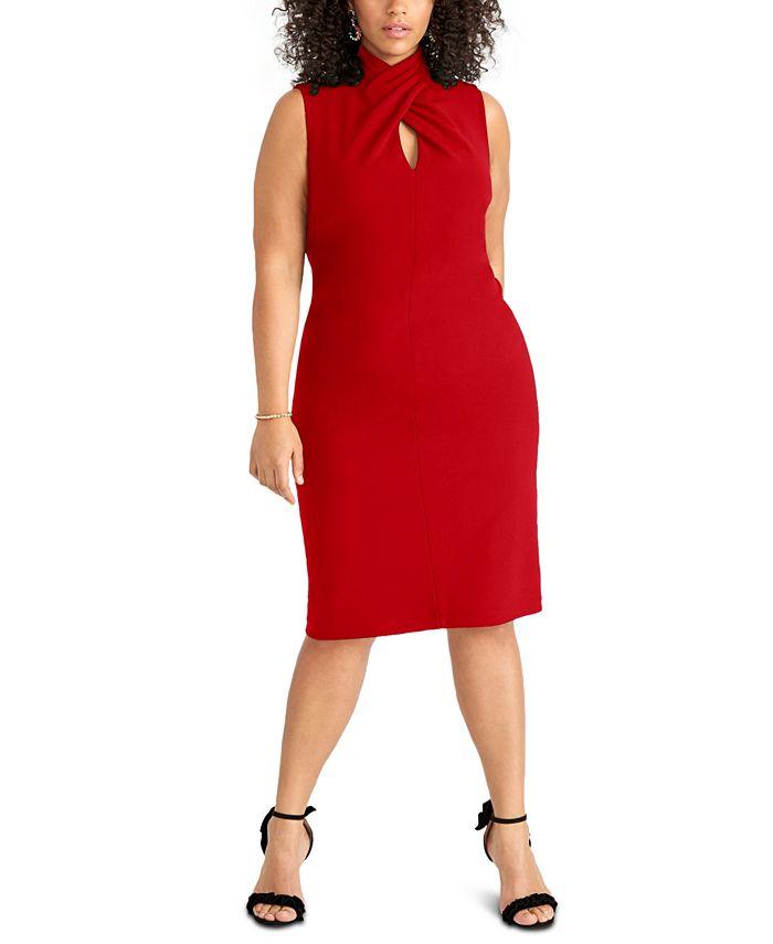 RACHEL Rachel Roy - Plus Size Twisted Sheath Dress