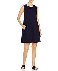 Eileen Fisher Organic Zippered-Neck Dress