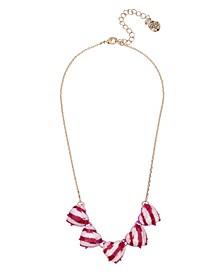 """Peppermint Heart Necklace, 16.5"""" + 3"""" extender"""