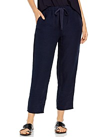 Organic Linen Drawstring Pants, Regular & Petite