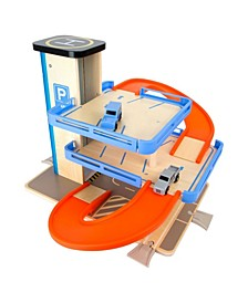 Small Foot Wooden Toys Level Parking Garage Complete Playset
