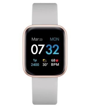 Air 3 Women's Touchscreen Smartwatch Fitness Tracker: Rose Gold Case with Grey Strap 40mm