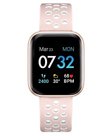 Women's Air 3 Blush and White Perforated Silicone Strap Touchscreen Smart Watch 40mm