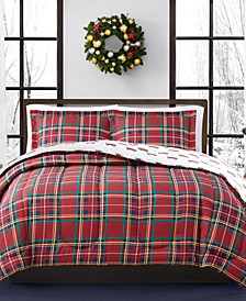 CLOSEOUT! Holiday Tartan Reversible Comforter Sets, Created for Macy's
