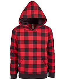 Unisex Big Kids, Little Kids Plaid Hoodie, Created for Macy's