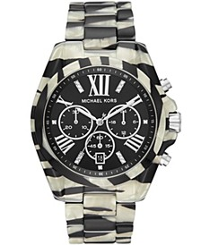 Women's Bradshaw Zebra Acetate Bracelet Watch 43mm