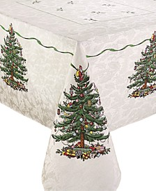 Christmas Tree Ivory/Green 60x102 Tablecloth