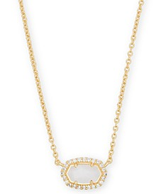 """14k Gold-Plated Cubic Zirconia & Mother-of-Pearl Pendant Necklace, 15"""" + 2"""" extender"""
