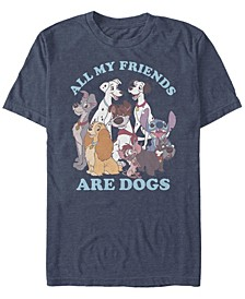 Men's Disney Multi Franchise Dog Friends Short Sleeve T-shirt