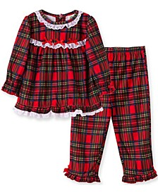 Little  Me Baby Girl Girl Plaid 2 Piece Pajama