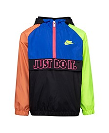 """Little Boys """"Just Do It"""" Half-Zip Anorak Jacket"""