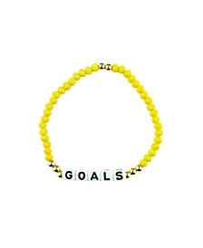 Goals 18k Gold Plated Crystal Bracelet