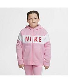 Sportswear Big Girl's Full-Zip Fleece Hoodie- Extended Sizes