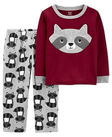 Toddler Boy 2-Piece Raccoon Fleece PJs