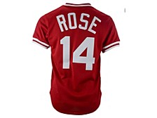 Cincinnati Reds Pete Rose Men's Authentic Mesh Batting Practice V-Neck Jersey