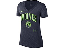 Minnesota Timberwolves Women's Dry Slub V-Neck T-Shirt