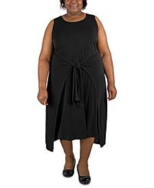 Plus Size Tie-Waist Shift Dress