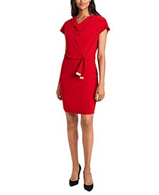 Cowlneck Sheath Dress