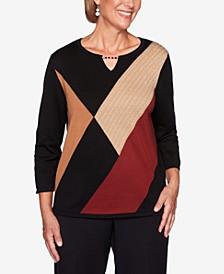Petite Catwalk Colorblocked Sweater