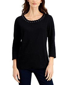Studded Twist-Detail Top, Created for Macy's