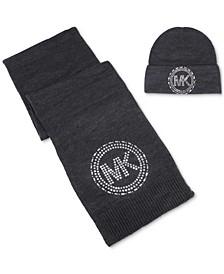 Mirror Stud Hat & Scarf Gift Set