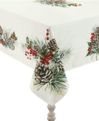 "Winter Garland Tablecloth -70""x 84"""