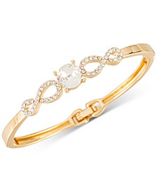 Gold-Tone Stone & Pave Openwork Hinge Bracelet, Created for Macy's