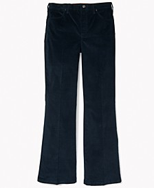 Women's Flared Corduroy Pants with Velcro Closures® and Magnetic Fly
