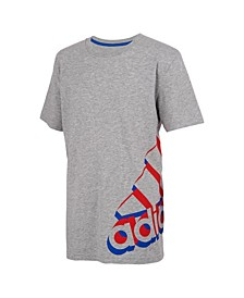 Toddler Boys Short Sleeve Heather Core Repeating Tee