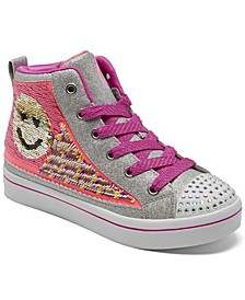 Little Girls Flip Kicks- Twi-Lites 2.0 - Sequin Society High Top Casual Sneakers from Finish Line