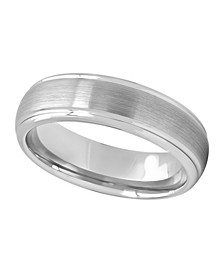 Men's Satin Grooved Tungsten Wedding Band