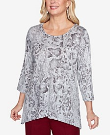 Women's Madison Avenue Python Melange Top
