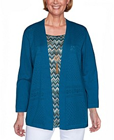 Women's Colorado Springs Chevron Inner Two-for-One Sweater