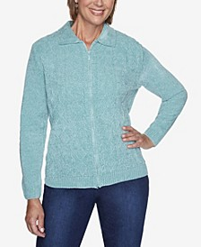 Women's Zip Cardigan Chenille