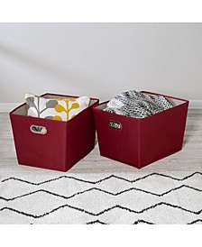 Set of Two Large Storage Bins