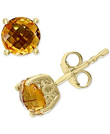 EFFY® Citrine Stud Earrings (1-3/4 ct. t.w.) in 14k Gold